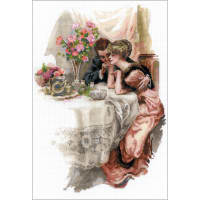 "RIOLIS Counted Cross Stitch Kit 11.8""X16.5""-First Evening In Own Home (14 Count)"
