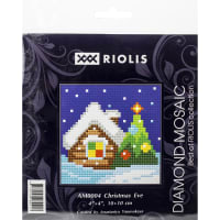 "RIOLIS Diamond Mosaic Embroidery Kit 4""X4""-Christmas Eve"