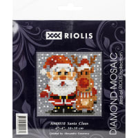 "RIOLIS Diamond Mosaic Embroidery Kit 4""X4""-Santa Claus"