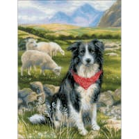 """RIOLIS Counted Cross Stitch Kit 11.80""""X15.75""""-Border Collie (14 Count)"""
