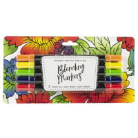 American Crafts Blending Markers 5/Pkg-Primary