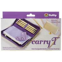 Tulip Carry T Interchangeable Bamboo Tunisian Hook Set-W/Case