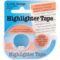 """Lee Products Highlighter Tape .5""""X393""""-Orange"""