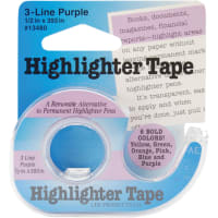 """Lee Products Highlighter Tape .5""""X393""""-Purple"""