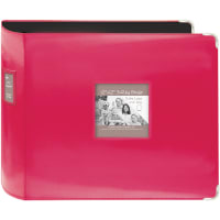 "Pioneer 3-Ring Sewn Leatherette Album 12""X12""-Bright Pink"