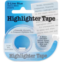 """Lee Products Highlighter Tape .5""""X393""""-Blue"""