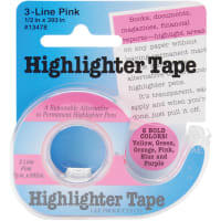 """Lee Products Highlighter Tape .5""""X393""""-Pink"""