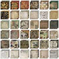 "Idea-Ology Paper Stash Double-Sided Paper Pad 8""X8"" 36/Pkg-Collage, 36 Designs/1 Each"