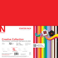 """Neenah Creative Collection Cardstock Pack 12""""X12"""" 72/Pkg-18 Bold & Vivid Colors"""