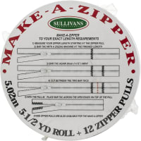 Sullivans Make-A-Zipper Kit 5.5yd-White