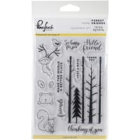 "Pinkfresh Studio Clear Stamp Set 4""X6""-Forest Friends"