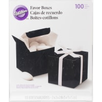 "Favor Boxes 2"" 100/Pkg-Black"