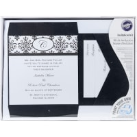 Invitation Kit Makes 25-Black & White Scroll Monogram