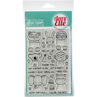 "Avery Elle Clear Stamp Set 4""X6""-Peek-A-Boo Pals"