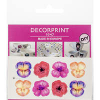 "Decorprint Peelable Decals 2""X4""-Hand Painted Flower"