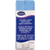 """Wrights Double Fold Quilt Binding .875""""X3yd-Delft"""