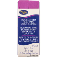 """Wrights Double Fold Quilt Binding .875""""X3yd-Radiant Orchid"""