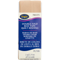 """Wrights Double Fold Quilt Binding .875""""X3yd-Tan"""