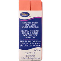 """Wrights Double Fold Quilt Binding .875""""X3yd-Coral"""