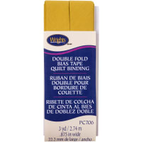 """Wrights Double Fold Quilt Binding .875""""X3yd-Mustard"""