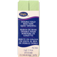 """Wrights Double Fold Quilt Binding .875""""X3yd-Sage"""