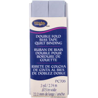 """Wrights Double Fold Quilt Binding .875""""X3yd-Lilac Grey"""