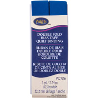 """Wrights Double Fold Quilt Binding .875""""X3yd-Snorkel Blue"""