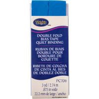 """Wrights Double Fold Quilt Binding .875""""X3yd-Teal"""