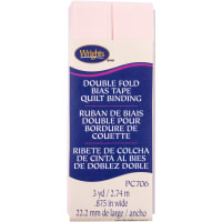 """Wrights Double Fold Quilt Binding .875""""X3yd-Rosewater"""