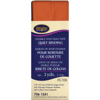 """Wrights Double Fold Quilt Binding .875""""X3yd-Carrot"""