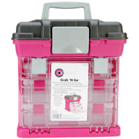 """Creative Options Grab'n Go 3-By Rack System-13""""X10""""X14"""" Magenta & Sparkle Gray"""