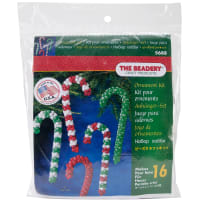 Holiday Beaded Ornament Kit-Candy Cane Assortment Makes 16