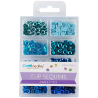 Cup Sequins 7mm .56oz-Rhythm 'n Blues
