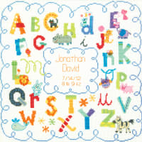 "Dimensions/Baby Hugs Counted Cross Stitch Kit 12""X12""-Alphabet Birth Record (14 Count)"