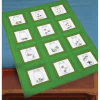 """Jack Dempsey Themed Stamped White Quilt Blocks 9""""X9"""" 12/Pkg-Creatures In Jars"""