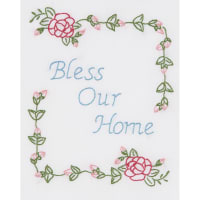 """Jack Dempsey Stamped White Sampler 8""""X10""""-Bless Our Home"""