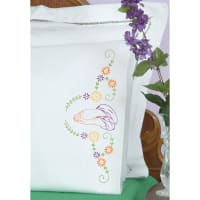 Jack Dempsey Stamped Pillowcases W/White Perle Edge 2/Pkg-Praying Hands