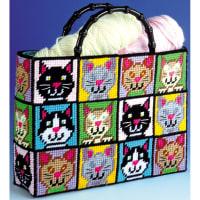 "Design Works Plastic Canvas Tote Bag Kit 12""X13""X9""-Cat (7 Count)"