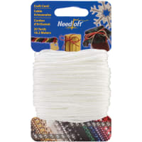 Cottage Mills Novelty Craft Cord 20yd-Solid White