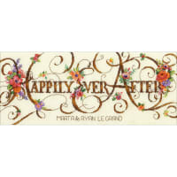 """Dimensions Counted Cross Stitch Kit 12""""X5""""-Ever After Wedding Record (18 Count)"""