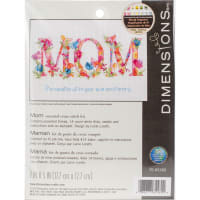 """Dimensions Counted Cross Stitch Kit 7""""X5""""-Mom (14 Count)"""