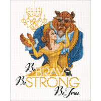 """Dimensions Disney Counted Cross Stitch Kit 8""""X10""""-Be Brave (14 Count)"""