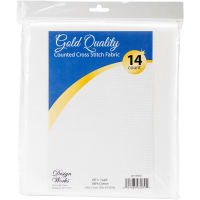 "Design Works Gold Quality Aida 14 Count 60""X36""-White"