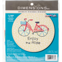 """Dimensions/Short N' Sweet Embroidery Kit 6""""-Bike Ride-Stitched In Thread"""