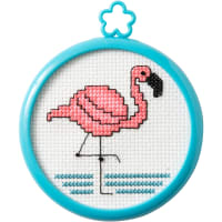 "Bucilla/My 1st Stitch Mini Counted Cross Stitch Kit 3"" Frame-Tropical Flamingo (14 count)"
