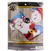 "Bucilla Felt Stocking Applique Kit 18"" Long-Hello Santa"