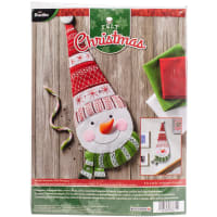 Bucilla Felt Wall Hanging Applique Kit-Nordic Snowman