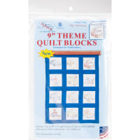 """Jack Dempsey Themed Stamped White Quilt Blocks 9""""X9"""" 12/Pkg-Toy Vehicles"""