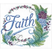 """Imaginating Counted Cross Stitch Kit 9.5""""X8""""-Feathered Faith (14 Count)"""