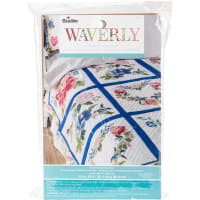 "Bucilla Stamped Embroidery Quilt Blocks 15""X15"" 6/Pkg-Waverly-Charmed"